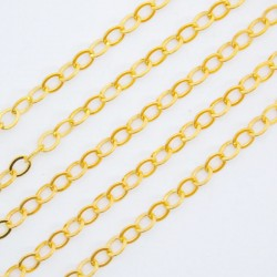 Gold Plated Cable Chain 3.5mm x 3mm - 2 metres