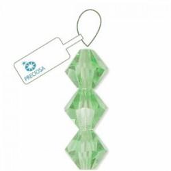 Preciosa Crystal 3mm Bicone Beads - Peridot - Pack of 42