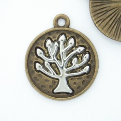 23mm Tree of Life Charm - Bronze Tone - Pack of 1