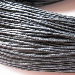 1mm Waxed Cotton Cord - Black - 10 metres