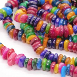 Shell Chip Beads - Mixed Colours - 37cm strand