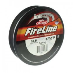 Fireline Braided Beading Thread 6lb - Crystal - 125yd