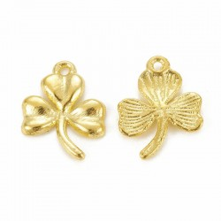 19mm Shamrock Charm - Gold Plated - Pack of 1