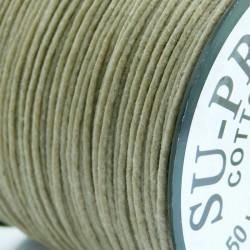 1mm Premium Waxed Cotton Cord - Natural - per metre