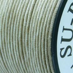 2mm Premium Waxed Cotton Cord - Natural - per metre
