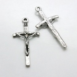 50mm Crucifix - Antique Silver Tone - Pack of 1