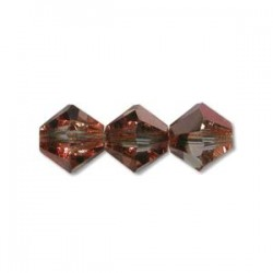 Preciosa 6mm Bicone Beads - Crystal Capri Gold - Pack of 21