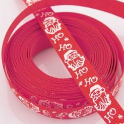 10mm Grosgrain Ribbon - Red 'Santa Claus' - 3 metres