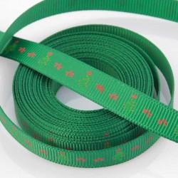 10mm Grosgrain Ribbon - Green 'Christmas Tree' - 3 metres