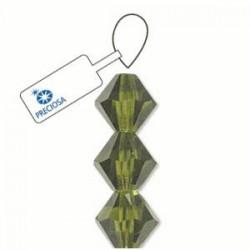Preciosa 4mm Bicone Beads - Olivine - Pack of 31