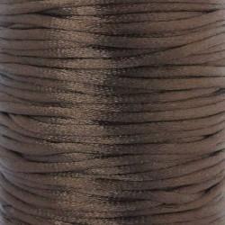 2mm Satin Rattail Cord - Dark Brown - 5m
