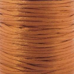 2mm Satin Rattail Cord - Burnt Orange - 5m