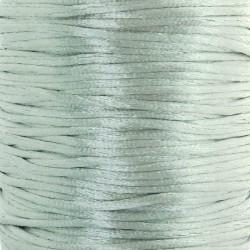 2mm Satin Rattail Cord - Light Grey - 5m
