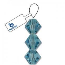 Preciosa 6mm Bicone Beads - Aquamarine - Pack of 21