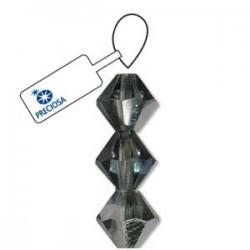 Preciosa 4mm Bicone Beads - Crystal Bermuda Blue