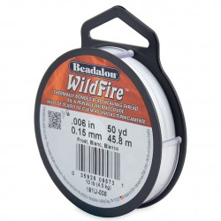 Wildfire Braided Beading Thread 0.15mm - Frost - 50yd