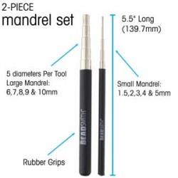 Steel Mandrel 1.5 to 10mm 2 Piece Set - Beadsmith