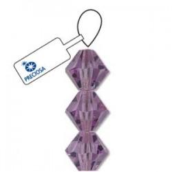 Preciosa 6mm Bicone Beads - Violet - Pack of 21