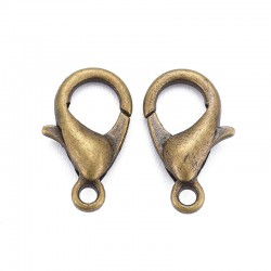 12mm Lobster Clasp - Antique Bronze Tone - Pack of 10