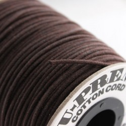 2mm Premium Waxed Cotton Cord - Brown - 68.57m Reel