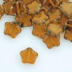 8mm Czech Table Cut Stars - Topaz Travertine - Pack of 10