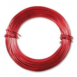 Beadsmith Aluminium 18ga (1mm) Craft Wire - 12m - Red Colour