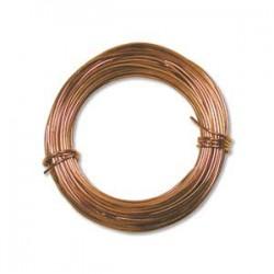 Beadsmith Aluminium 18ga (1mm) Craft Wire - 12m - Copper Colour