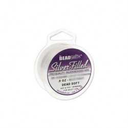 Beadsmith Silver Filled Wire - 20ga (0.8mm) - Dead Soft - 9.37ft