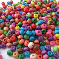 Wood Spacer Beads - Multi coloured