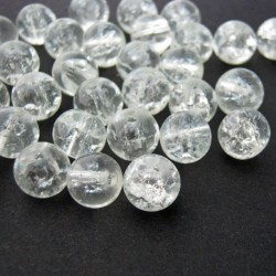 8mm Clear Crackle Beads