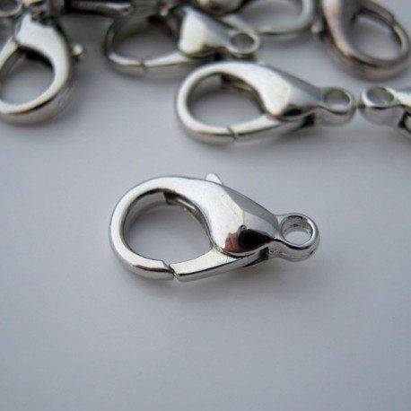 Silver Tone 14mm Lobster Clasp