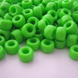 Pony Beads Lime Green