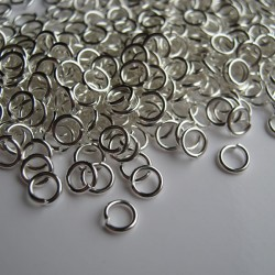 4mm Jump Rings - Silver Plated - Pack of 200