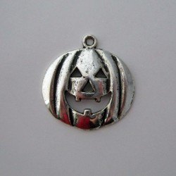 Silver Tone Large Pumpkin Charms