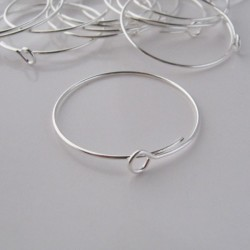 Wine Glass Charm Rings - 25mm - Silver Plated - Pack of 20