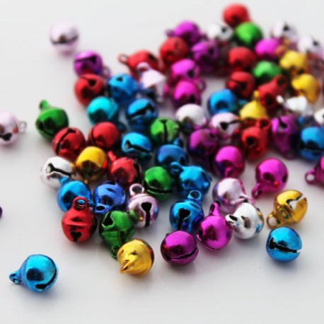 Multi Coloured Jingle Bell Charms