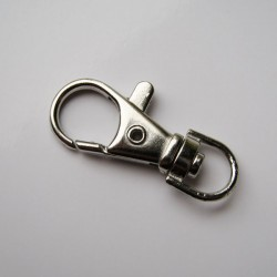 37mm Key Ring Swivel Clasp - Silver Tone - Pack of 1