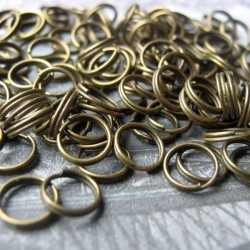 7mm Spilt Rings - Antique Bronze Tone
