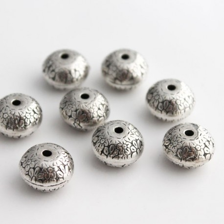 Acrylic CCB Beads - 10.5mm Antique Silver Tone
