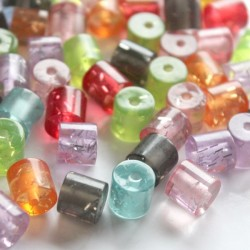 8mm Resin Tube Beads