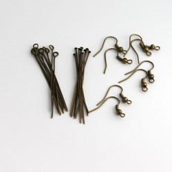 Mini Earring Findings Kit - Bronze Tone