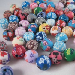 Polymer Clay 12mm Beads - Pack of 30