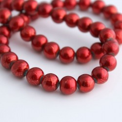 8mm Spectra Glass Beads - Red
