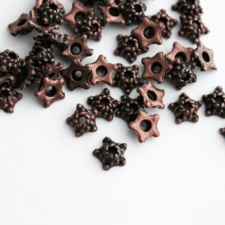 5.5mm Copper Tone Bead Caps - Star Shape