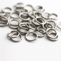 8mm Silver Tone Jump Rings