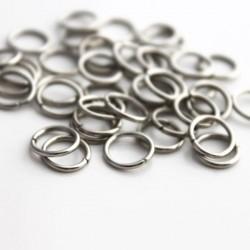 8mm Jump Rings Silver Tone