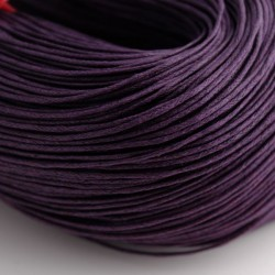 1mm Waxed Cotton Cord - Plum - 10m