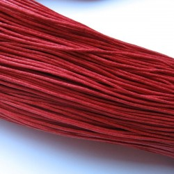 1mm Waxed Cotton Cord - Red - 10m