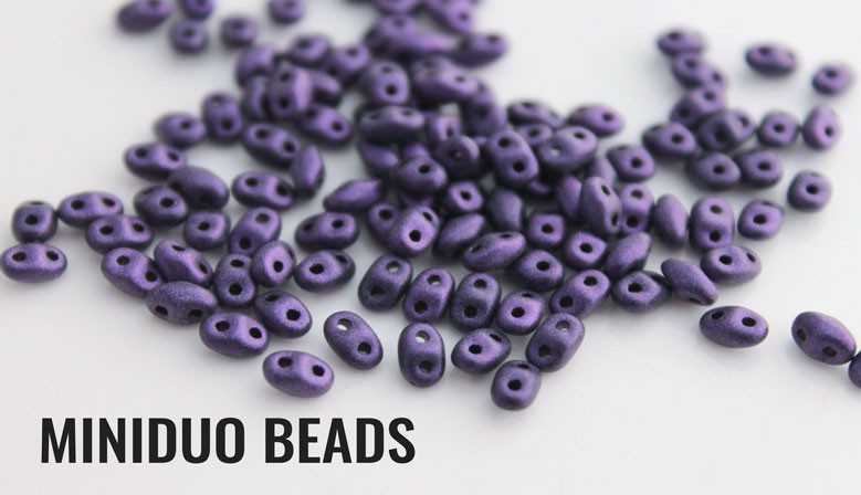Miniduo two hole beads
